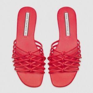 Zara red sandals